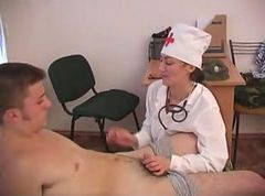 Horny soldier fucks his mature doctor