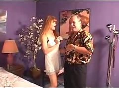 Grandpa gives a good anal to redhead mature