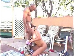 Young Brunette Gets Black Dick In Butthole
