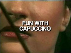 Drinking Cappucino For Blowjob