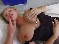 Natural Busty Blond Takes It In The Ass
