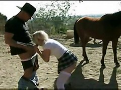 Cowboys Cute Stepdaughter Gets Anal In Barn