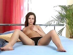 Cute Nubile Ela Strokes Her Tight Boobs And Penetrates A Toy In Her Wet Fuck Hole