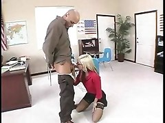 Blonde Teen With Glasses Screws Teacher And Gets Cum On Her Glasses