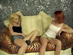 Two Bisexual Teens Kissing And Being Fingered By Their Guy