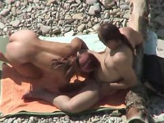 Nude Beach Couple Fucking Tanned Girl