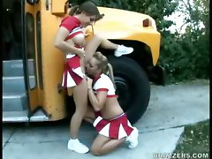 Busty Cheerleaders Suck Hard