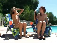 Lovely Bikini Teens Share A Cock