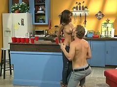 Naughty april fuck in the kitchen