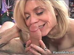 Mature slut sucks and get fucked by fat