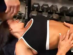 Kristina Madison Threesome In The Gym
