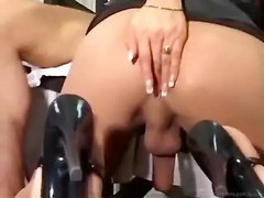 Blonde Shemale Sucking Cock