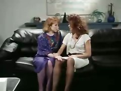 Retro Office Lesbians Pussy Amp Ass Licking Strap On