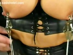Master Plays With Beautiful Pussy Big Tits And Nice Ass Of Naughty Tied Slave