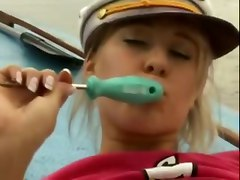 Carla Cox Screwdriver Fun On Boat