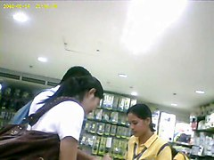 Boso Voyeur Teen Girl Upskirt On A Store