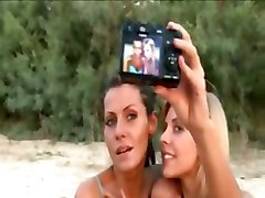 Horny Lesbian Girlfriends Naked On Beach