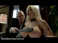 Huge Boobs Blonde Spank And Blowjob By Husband