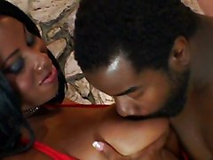 Ebony Babe Is Orgasmic By The Fireplace