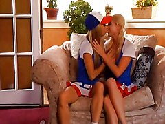 Three Blonde Babes Licking Each Other