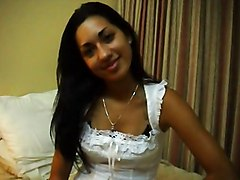 Incredible Sweet Latina Gets Creamed