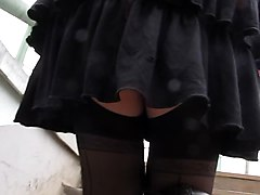 Stockings Upskirt Upstair Outdoor