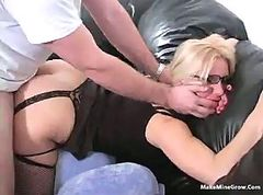 Nice butt blonde in eye glasses 2