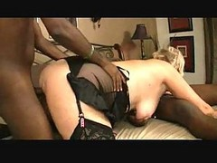 Mature Blonde & Two Black Guys 3