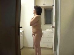 Japanese Mother Takes Shower
