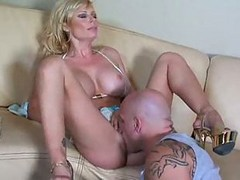 A Busty Milf Pays Her Bill With Pussy